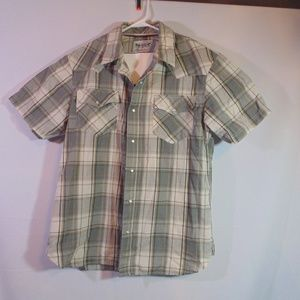 Levis short sleeve pearl snap shirt size Large